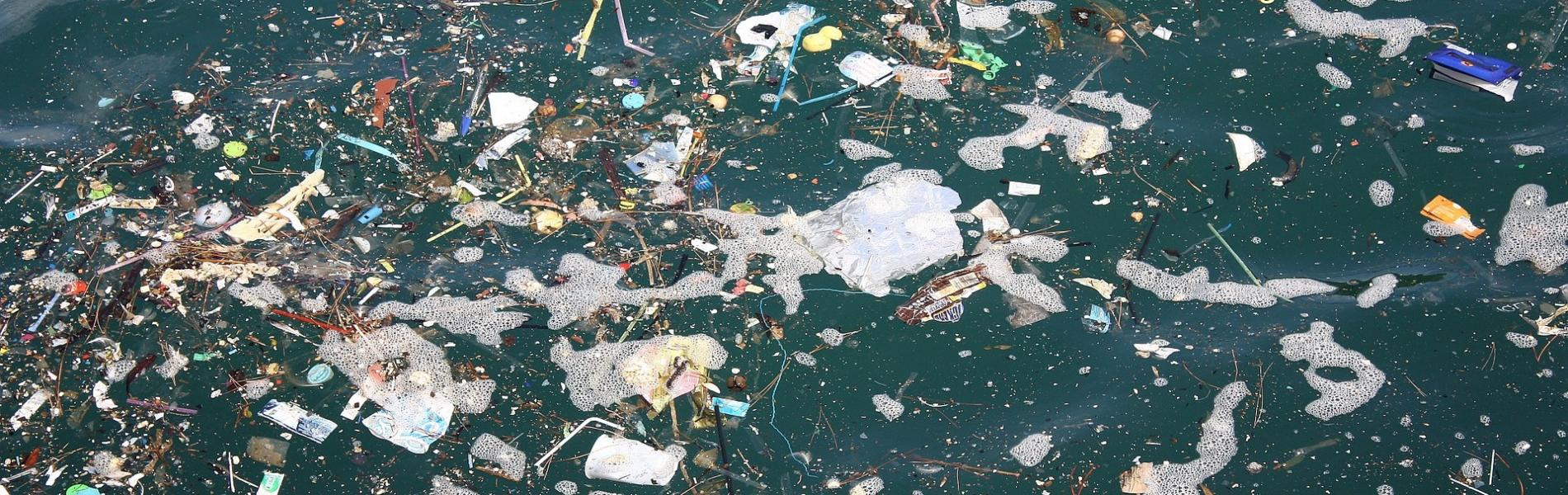 garbage in the water